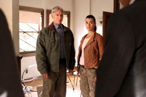 Gibbs (Mark Harmon) and Ziva (Cote de Pablo) in season 10, episode 24. (Sonja Flemming/CBS)