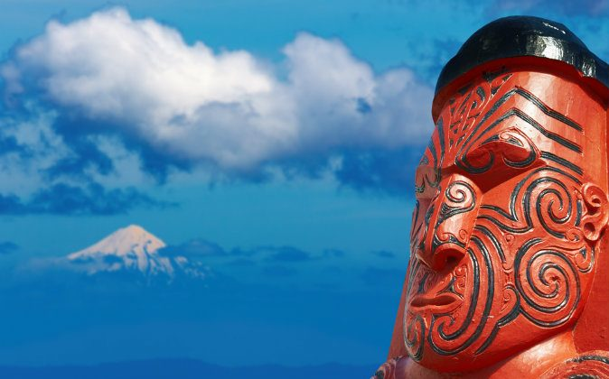 Traditional maori carving via Shutterstock*