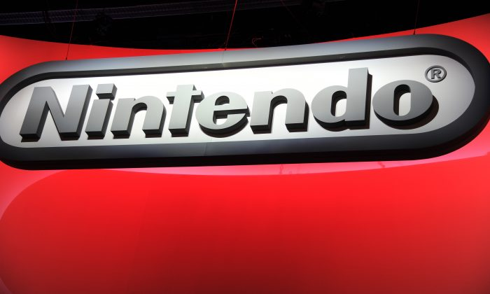 The Nintendo logo is seen on the final day of the E3 Electronic Entertainment Expo, in Los Angeles, California June 13, 2013. (Robyn Beck/AFP/Getty Images)