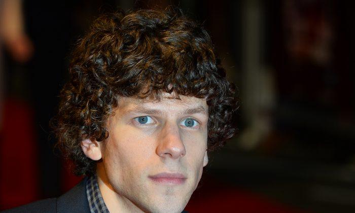 Jesse Eisenberg, who plays Lex Luthor in Batman v Superman, in a file photo. Eisenberg was recently spotted bald, prompting rumors that Luthor does become bald at some point in the movie. (AFP/Getty Images)