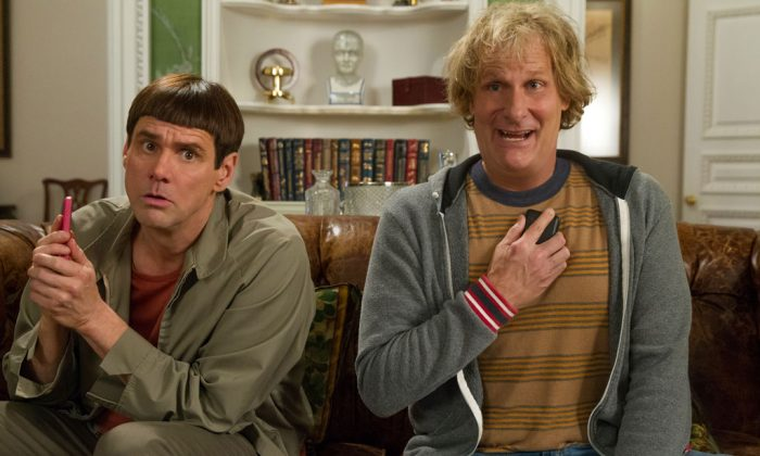 """This image released by Universal Pictures shows Jim Carrey (L) and Jeff Daniels in a scene from """"Dumb and Dumber To."""" (AP Photo/Universal Pictures, Hopper Stone)"""
