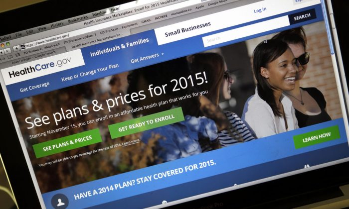 The HealthCare.gov website, Nov. 12, 2014. The enrollment period for 2015 began Saturday and continues through Feb. 15. (AP Photo/Don Ryan)