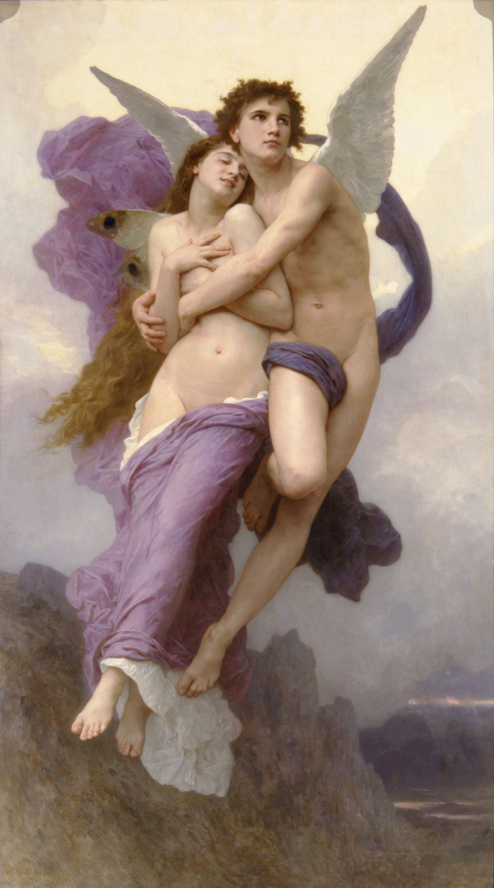 """Le Ravissement de Psyche,"" by William Bouguereau, 82 1/4 x 47 1/4 in Oil on canvas. Private collection. (Courtesy of Art Renewal Center)"