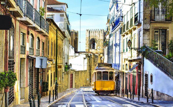 Romantic Lisbon street via Shutterstock*