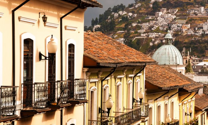 Historic colonial buildings in Quito, Ecuador via Shutterstock*