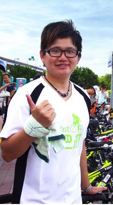 A friend of the participants. (Zhang Yu-Hua)