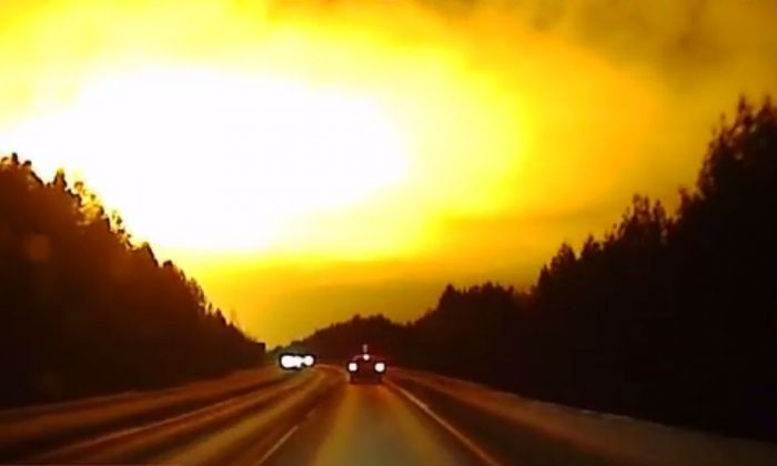 Something that appears to be a meteor exploded over western Siberia, according to reports this week. (YouTube)