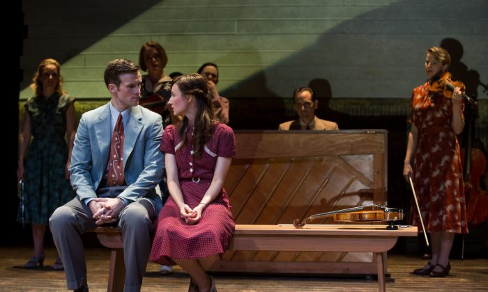 """Claybourne Elder and Elizabeth A. Davis star in the Classic Stage Company's production of Rodgers & Hammerstein's """"Allegro."""" (Matthew Murphy)"""