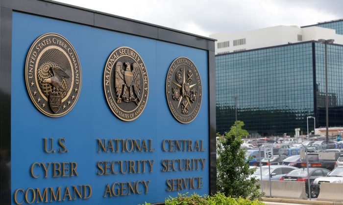A sign stands outside the National Security Agency (NSA) campus in Fort Meade, Md., on June 6, 2013. Years before Edward Snowden sparked a public outcry with the disclosure that the NSA had been secretly collecting American telephone records, some NSA executives voiced strong objections to the program, intelligence officials say, complaining that it exceeded the agency's mandate to focus on foreign spying and would do little to stop terror plots. (AP Photo/Patrick Semansky)