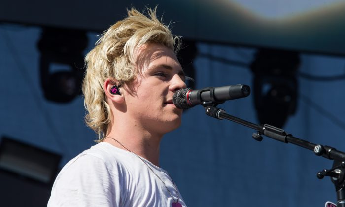 Ross Lynch of R5 performs on stage at 102.7 KIIS FM's Wango Tango at the StubHub Center on Saturday, May 10, 2014, in Carson, Calif. (Photo by Paul A. Hebert/Invision/AP)