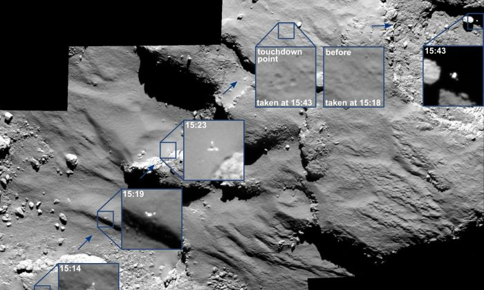 Robot on a comet, that's all. (ESA/Rosetta/MPS)