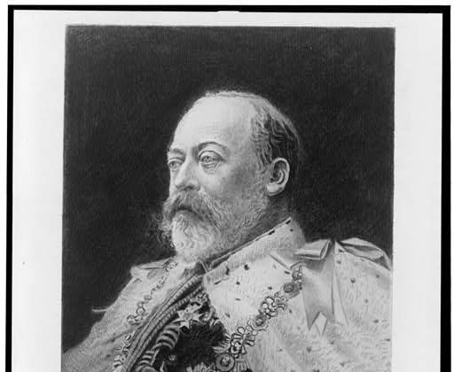 Portrait of King Edward VII. His successful appendicitis just before his coronation made the surgery fashionable. (Franz Raubicheck via the Library of Congress)