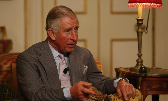 Prince Charles, Prince of Wales takes part in his first ever Google+ Hangout as part of the #iwill campaign at Clarence House on Nov. 20, 2014, in London, England. (Jonathan Brady/Getty Images)