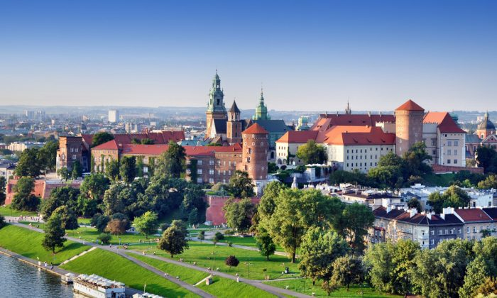 Historic royal Wawel castle in Kracow, Poland via Shutterstock*