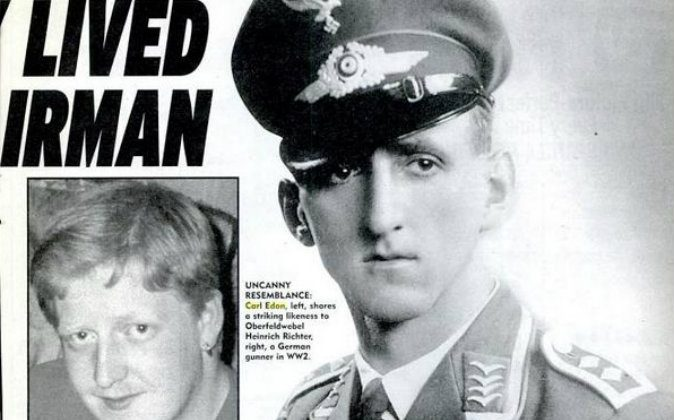 Left: Carl Edon Right: Nazi airman Heinrich Richter. (The Weekly World News)