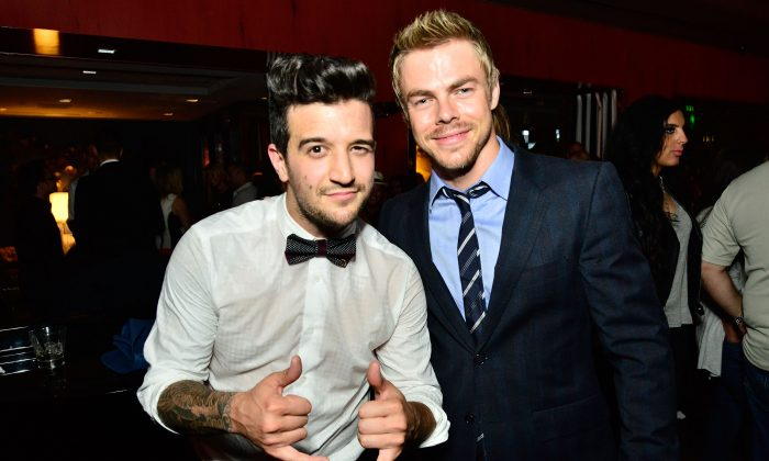 Mark Ballas and Derek Hough attend OK! TV Awards Party at Sofitel Hotel on August 21, 2014 in Los Angeles, California. (Photo by Jerod Harris/Getty Images)