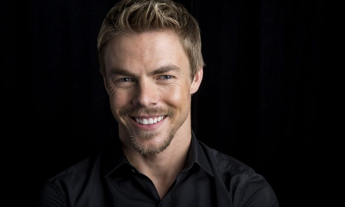 """Dancer, singer, actor, Emmy-winning choreographer and now author Derek Hough poses for a portrait in promotion of his new book """"Taking the Lead: Lessons From a Life in Motion,"""" on Thursday, August 7, 2014 in New York. (Photo by Amy Sussman/Invision/AP)"""