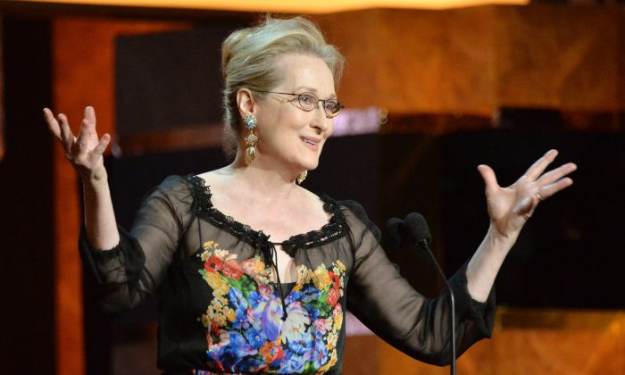 Actress Meryl Streep speaks onstage at the 2014 AFI Life Achievement Award: A Tribute to Jane Fonda at the Dolby Theatre on June 5, 2014 in Hollywood, California. (Photo by Frazer Harrison/Getty Images for AFI)