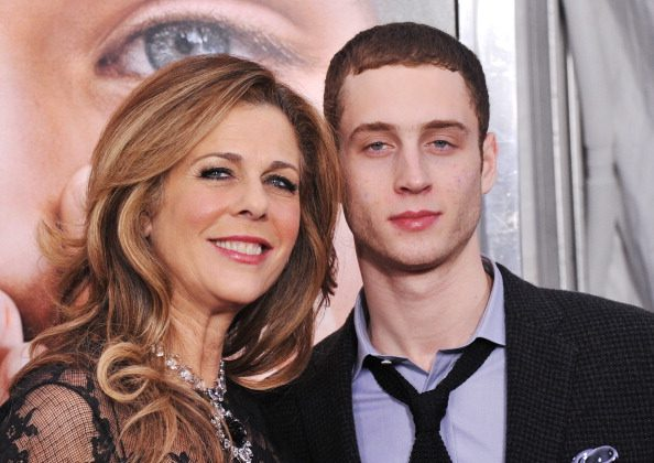 """Actress Rita Wilson and Chester Marlon Hanks attend the """"Extremely Loud & Incredibly Close"""" New York premiere at the Ziegfeld Theater on December 15, 2011 in New York City.  (Photo by Stephen Lovekin/Getty Images)"""