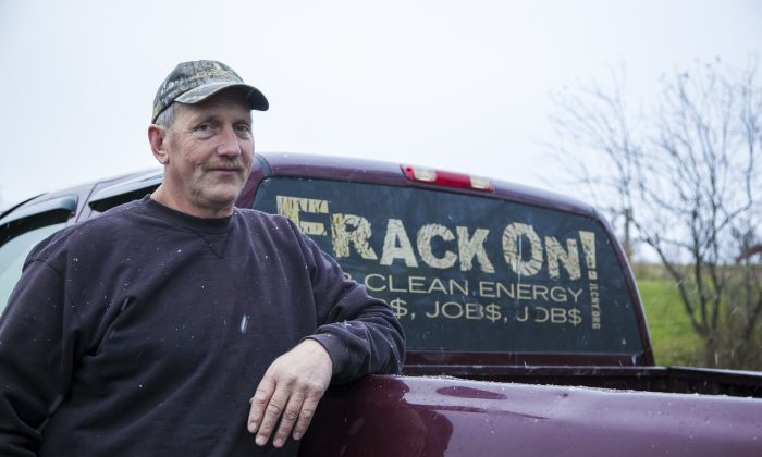 Bill Graby, an upstate New York dairy farmer whose property sits above the Marcellus Shale, in Sullivan County, N.Y., on Nov. 13, 2014.  (Samira Bouaou/Epoch Times)