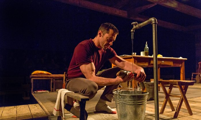 "Hugh Jackman in ""The River,"" now playing at Broadway's Circle in the Square Theatre. (Richard Termine)"