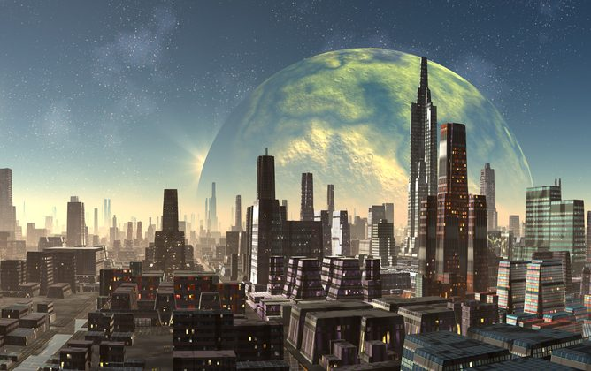 The extreme future city. (diversepixel)