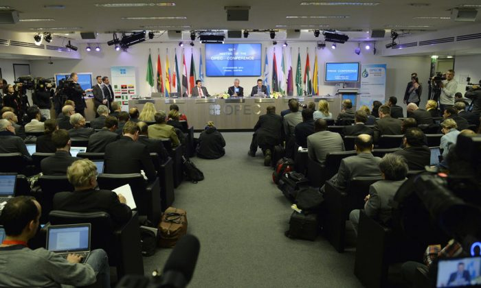 OPEC Secretary General Abdalla Salem El-Badri attends at press conference after the 166th Organization of the Petroleum Exporting Countries (OPEC), at their headquarters in Vienna, Austria, on Nov. 27, 2014. (Samuel Kubani/AFP/Getty Images)