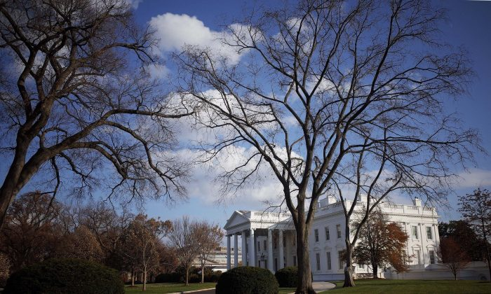 The White House in Washington, DC, on Thanksgiving Day, Nov. 27, 2014. (Mandel Ngan/AFP/Getty Images)