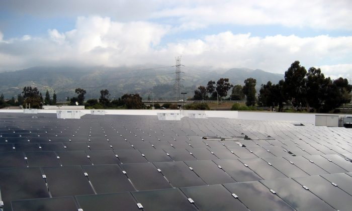 Roof-top solar panels are just one part of the micropower revolution. (Walmart, CC BY)