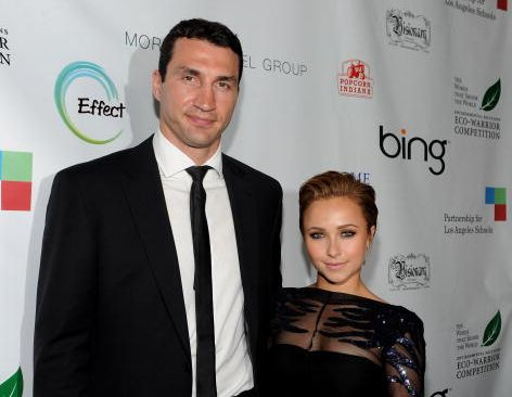 Wladimir Klitschko and actress Hayden Panetierre attend the Earth Day celebration and screening of Avatar benefitting the Partnership for Los Angeles Schools  at Nokia Theatre L.A. Live on April 22, 2010 in Los Angeles, California.  (Photo by Michael Buckner/Getty Images for Earth Day)