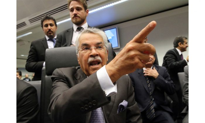 Saudi Arabia's Minister of Petroleum and Mineral Resources Ali Ibrahim Naimi at a meeting of the Organization of the Petroleum Exporting Countries, OPEC, in Vienna, Austria, on Thursday.  (Ronald Zak/AP)