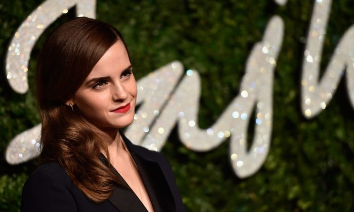 Emma Watson attends the British Fashion Awards at London Coliseum on December 1, 2014 in London, England. (Photo by Pascal Le Segretain/Getty Images)