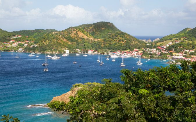 View at the caribbean island Martinique via Shutterstock