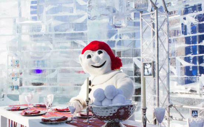 Bonhomme in his Ice Palace. (Quebec City Tourism)