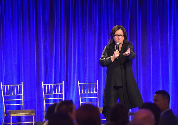 Rosie O'Donnell speaks on stage during the Worldwide Orphans' 10th Annual Gala Hosted by Katie Couric at Cipriani, Wall Street on November 17, 2014 in New York City. (Photo by Michael Loccisano/Getty Images for Worldwide Orphans)