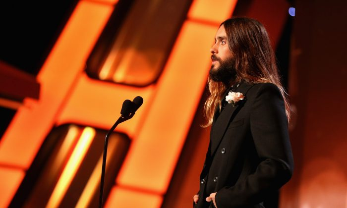 Actor Jared Leto speaks onstage at the 18th Annual Hollywood Film Awards at The Palladium on November 14, 2014 in Hollywood, California. (Photo by Christopher Polk/Getty Images for DCP)