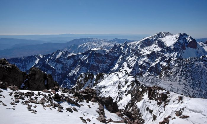 View from the top of the mt Toubkal via Shutterstock*