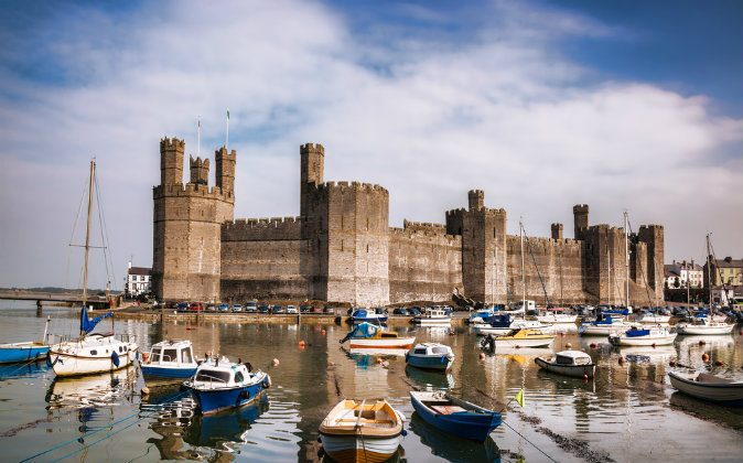 Caernarfon Castle in Wales via Shutterstock*
