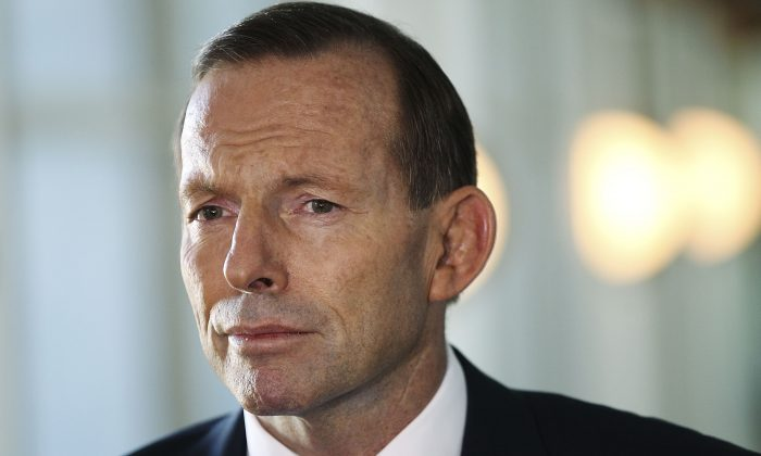 Australian Prime Minister Tony Abbott speaks to the media at Parliament House on May 7, 2014 in Canberra, Australia. (Stefan Postles/Getty Images)