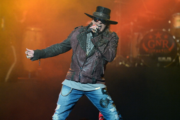 "Axl Rose of Guns N' Roses performs at The Joint inside the Hard Rock Hotel & Casino during the opening night of the band's second residency, ""Guns N' Roses - An Evening of Destruction. No Trickery!"" on May 21, 2014 in Las Vegas, Nevada.  (Photo by Ethan Miller/Getty Images)"