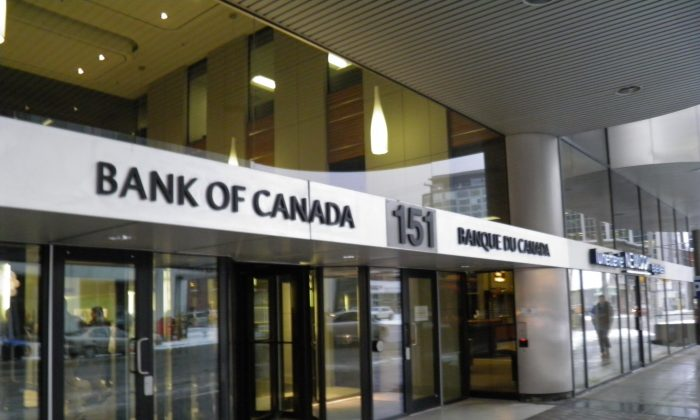 The Bank of Canada maintained the overnight rate at 1 percent in its eighth and final interest rate announcement of 2014 on Dec. 3. (Epoch Times)