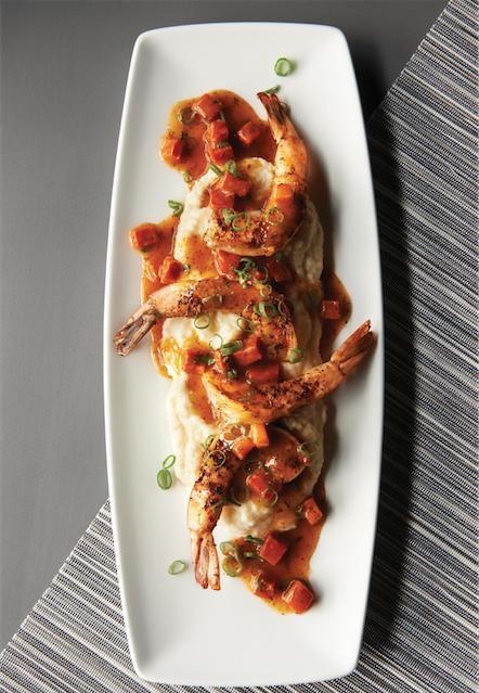 Shrimp & Grits. (Courtesy of Morton's Grille)