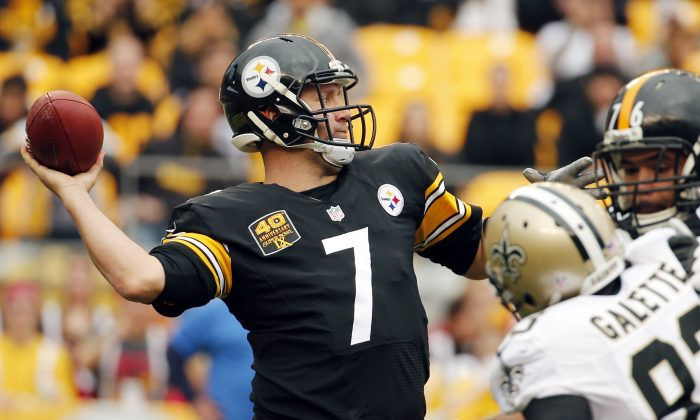Pittsburgh Steelers quarterback Ben Roethlisberger #7 in a file photo. (AP Photo/Gene J. Puskar)