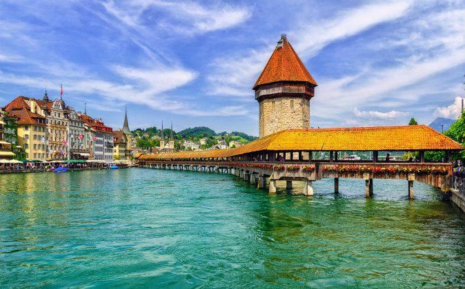 Chapel Bridge in Lucerne, Switzerland via Shutterstock*