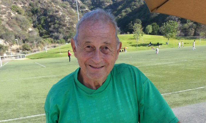 74-year-old Dick Jover gets his kicks, it could be said, from organizing the annual Thanksgiving Soccer Tournament, which was held in Glendale this year. The fundraising event featuring players as old as 86, aims to raise $5000 for charity. (Timothy Wahl)
