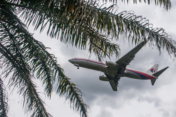 Malaysia Airlines plane prepares to land at Kuala Lumpur International Airport in Sepang, outside Kuala Lumpur. (MOHD RASFAN/AFP/Getty Images)