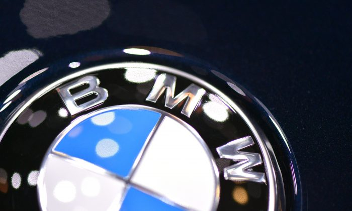 The BMW logo is seen during the 83rd Geneva Motor Show on March 5, 2013 in Geneva, Switzerland. (Harold Cunningham/Getty Images)