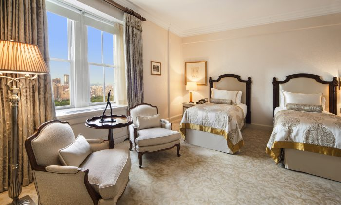 The 39th floor of the Pierre Hotel at the southeast corner of Central Park on East 61st, spans 4,786 square feet, and costs $500,000-a-month. (Michael Weinstein)