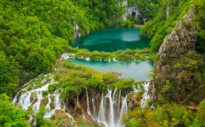 Waterfalls in Plitvice National Park, Croatia via Shutterstock*