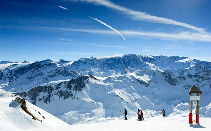 Ski slope in Meribel Valley, French Alps via Shutterstock*
